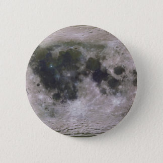 Topographic Surface of Earth's Moon 6 Cm Round Badge