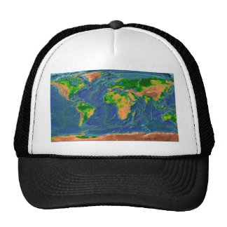 Topographical Earth Cap