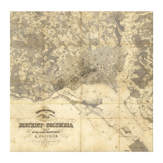 Topographical Map of District of Columbia (1861) Stretched Canvas Prints