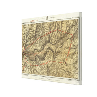 Topographical Map of The Yosemite Valley Gallery Wrap Canvas
