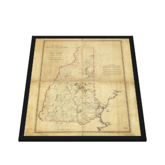 Topographical Map Province of New Hampshire (1784) Gallery Wrapped Canvas