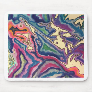 Topographical Tissue Paper Art I Mouse Pad