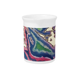 Topographical Tissue Paper Art I Pitcher