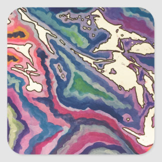Topographical Tissue Paper Art I Square Sticker