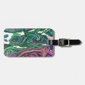 Topographical Tissue Paper Art II Luggage Tag