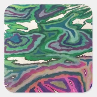 Topographical Tissue Paper Art II Square Sticker