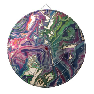 Topographical Tissue Paper Art IV Dartboard