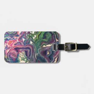 Topographical Tissue Paper Art IV Luggage Tag