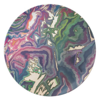 Topographical Tissue Paper Art IV Plate