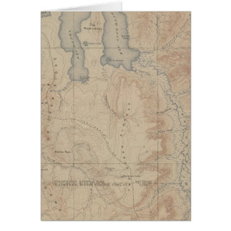 Topography Map, Yellowstone National Part, Wyoming Card