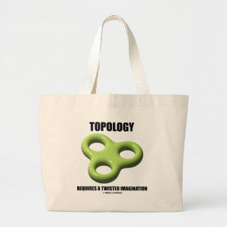 Topology Requires A Twisted Imagination (Toroid) Tote Bag