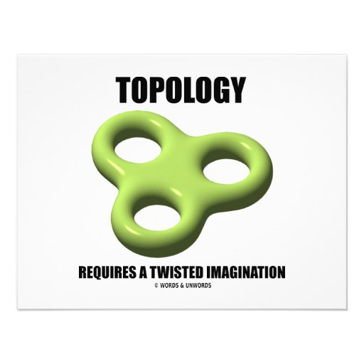 Topology Requires A Twisted Imagination (Toroid) Custom Invitation