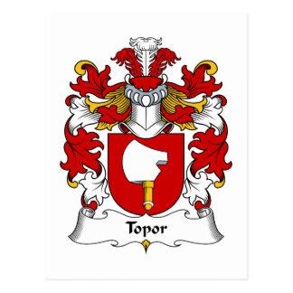 Topor Family Crest Postcard