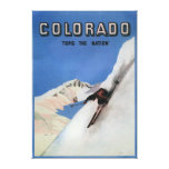 Tops the Nation - Skiing Promotional Poster Stretched Canvas Prints