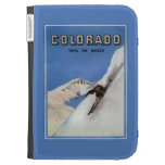 Tops the Nation - Skiing Promotional Poster Kindle Cases