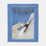 Tops the Nation - Skiing Promotional Poster Fleece Blanket