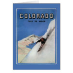 Tops the Nation - Skiing Promotional Poster Greeting Card