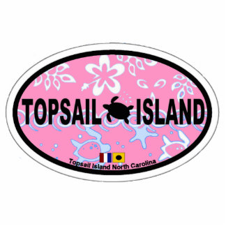 Topsail Island Oval Design. Photo Sculpture Badge