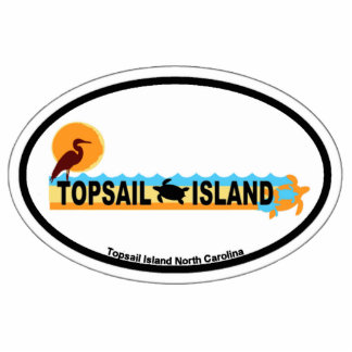 Topsail Island. Photo Sculpture Badge