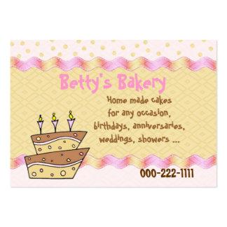 Topsy Turvy Cake Bakery Business Card