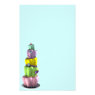 Topsy Turvy Cake stationery