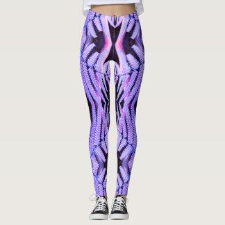 Topsy Turvy Tropical Purple Fern Leggings