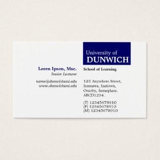 TopTag University - Deep Navy Business Card
