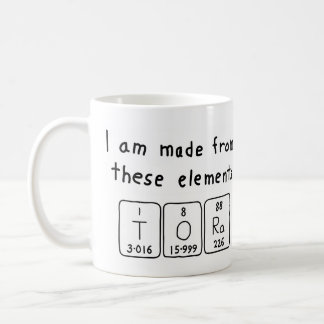 Tora periodic table name mug