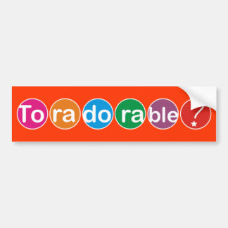 Toradorable! Bumper Sticker