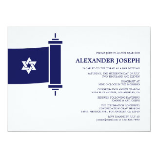 "Torah Bar Mitzvah Invitation 5.5"" X 7.5"" Invitation Card"