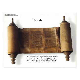 """Torah """"If Not For Myself"""" Wisdom Quote Gifts & Tee Postcard"""