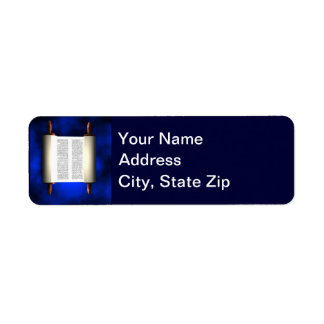 Torah Light Return Address Label