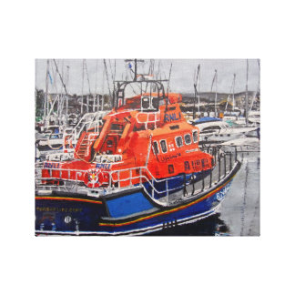 Torbay lifeboat wrapped canvas print