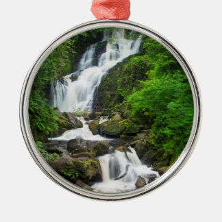 Torc waterfall scenic, Ireland Metal Ornament