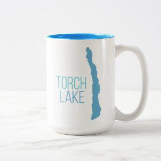 Torch Lake, Kalkaska County, Michigan Two-Tone Coffee Mug