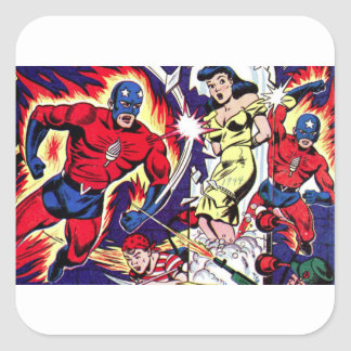 Torch Man and Torch Boy Square Sticker