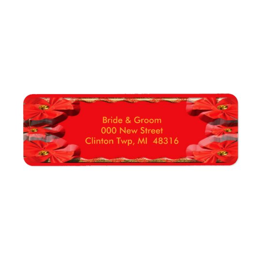 Torch Red Ribbons Return Address Label