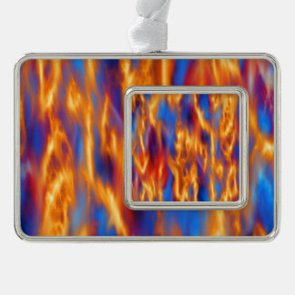Torched Silver Plated Framed Ornament