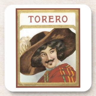 Torero Cigar Label Drink Coasters