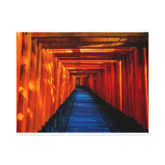 Torii Gate Path Canvas Print