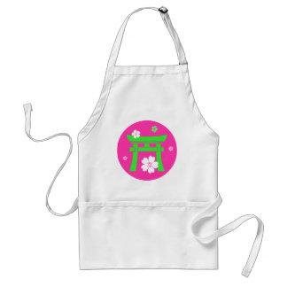 Torii (green & pink) adult apron