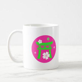 Torii (green & pink) classic white coffee mug