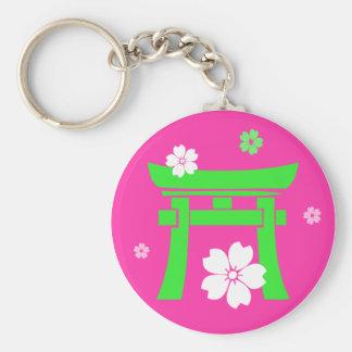 Torii green pink key chains