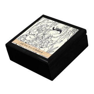 Torii Kiyomasu  dancing beauty japanese lady ink Large Square Gift Box