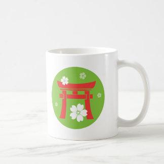 Torii (orange and green) classic white coffee mug