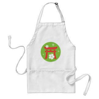 Torii (orange & green) adult apron
