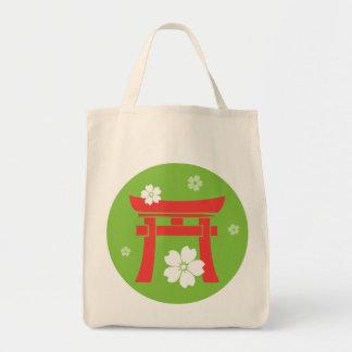 Torii (orange & green) canvas bags