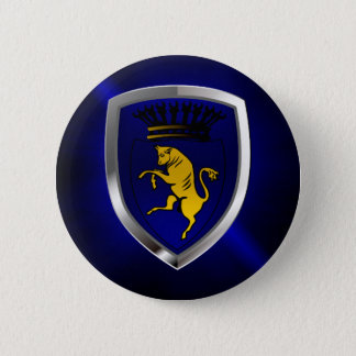 Torino Mettalic Emblem 6 Cm Round Badge