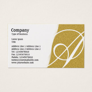 Torn Away - Amber Embossed Texture - Gold Business Card