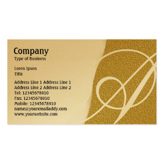 Torn Away - Amber Embossed Texture - Gold Business Card Templates